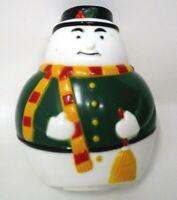 Snowman Winter Christmas Night Light Cover Vintage