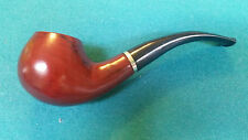 Chang Feng Brown Wood Durable Tobacco Pipe  with Silver Band