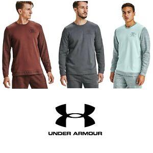 Under Armour Men's Sportstyle Noveltry Terry Crew Sweatshirt Pullover 1357103
