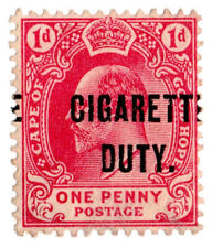 (I.B) Cape of Good Hope Revenue : Cigarette Duty 1d