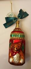 Waterford 2001 Baby's First Bottle Glass Christmas Ornament Boxed Czech Republic