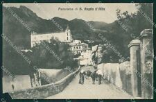 Caserta Sant'Angelo d'Alife PIEGHE cartolina XB3984