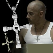 COLLANA FAST AND FURIOUS DOMINIC TORETTO VIN DIESEL CIONDOLO CROCE LETTY