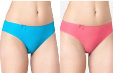 Sloggi Wow Comfort Tai Style Knickers/Pants Pink Grapefruit/Carribean Sea Blue