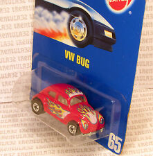 SPEED POINTS VW BUG VOLKSWAGEN BEETLE RED W FLAMES #65 BLUE CARD HOT WHEELS