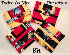 TWICE AS NICE PURSETTES KIT - SET 4 STYLES!- Incl Patterns &all Moda Fabric