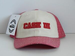 Case IH Youth Girls Beige / Red Chambray Cap