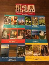 Lot of 7 tourist books about Romania