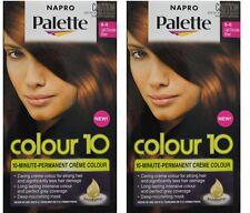 2 x NAPRO PALETTE COLOUR 10 PERMANENT HAIR COLOUR 6-6 LIGHT CHOCOLATE BROWN NEW