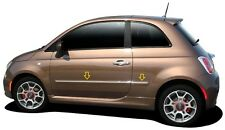4PC PAINTED BODY SIDE MOLDINGS WITH CHROME INSERT FITS 2012-2018 FIAT 500