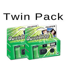 2x Fujifilm Quicksnap Single Use / Disposable Camera - 27 Exposures With Flash