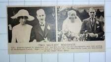 1920 Military Weddings Newenham Dorothy Lane Fox Retallack Miss Hunter Jones