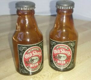 Vintage Salt & Pepper Shaker Old Shay Beer