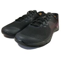 Nike Metcon 4 Training Shoes AH7454-001 Mens Size 13 Black Iridescent Squat