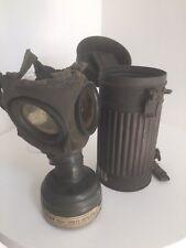 Gasmaske WKII mit Dose, original Zustand , verstaubter Dachbodenfund