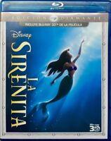 Blu-ray 3D Disney The Little Mermaid La sirenita [English+Fren+Español+Portu]