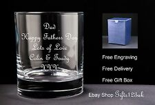 Personalised 10oz Whisky Glass, Fathers / Mothers Day Gift