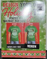 Crazy Christmas TEE T-Shirt, Design Your Own Decorate Yourself KIT MED SANTA