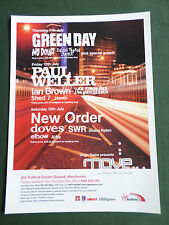 GREEN DAY - PAUL WELLER - MAGAZINE CLIPPING / CUTTING- 1 PAGE ADVERT