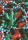 Cactus Boot Mardi Gras Party Necklace Bead