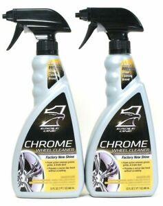 (2 Bottles) Eagle One Factory New Shine Foam Action Chrome Wheel Cleaner 23 Oz