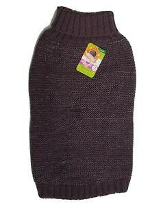 New Top Paw Dog Reflective Sweater Size L Reflective Purple Yarn