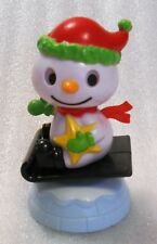 New Sealed Solar Powered Dancing Sledding Snowman Christmas Decoration/Toy