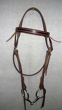 Leather Bridle Hermann Oak Brown Bridle Western Riding Trail Riding FULL size