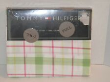 NEW Tommy Hilfiger Lafayette Square Pink Green Plaid FULL Flat Sheet