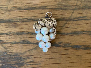 "Vintage 9ct Gold Pendant With Natural Geninue Pearls ""grape Vine"""