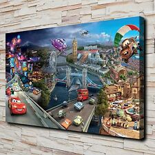 HD Canvas Print Paintings Disney Cars 2 Home Decor Wall Art Pictures Posters