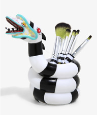 Loungefly Makeup 5 Brush Set & Holder Beetlejuice Sandworm Tim Burton Cosmetic