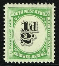 SG D47 SOUTH WEST AFRICA 1931 POSTAGE DUE - HALFPENNY BLACK & GREEN - M/M