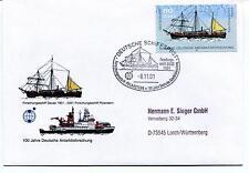 2001 Polarstern Deutsche Schiffspost Gauss Polar Antarctic Cover