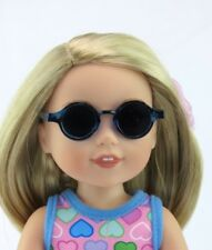 "Adorable Blue Tortoise Shell Sunglasses - Fits AG Wellie Wishers 14.5"" Dolls"