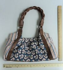 Women's RELIC Peach Pink Blue Floral Purse Ladies Hand Bag Tote w/ Flowers