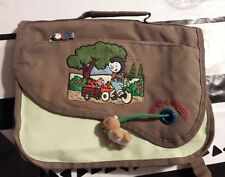 cartable t'choupi vert anis brode