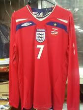 New Authentic Umbro 2008 England Beckham L/S Jersey vs France manchester United