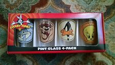 Looney Tunes Characters Retro Head Shots Pints 4 Glass Set, NEW BOXED