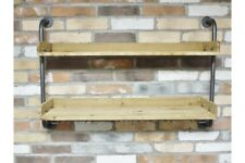 Vintage Industrial Shelving - Drinks Wall Unit Rack For Wine Glasses - Home Bar