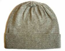 ba3567cee9284d Heather gray grey 100% Pure cashmere Hat Ski beanie Winter Cap skull Unisex