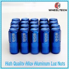 20X Blue 50mm Close End Aluminum Wheel Lug Nuts M12x1.5 for Toyota Honda Ford