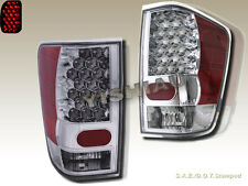 FIT 04-12 NISSAN TITAN LE XE SE LED TAIL LIGHTS REAR TRUNK CHROME