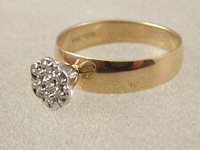10K ENGAGEMENT RING - 10 KARAT YELLOW GOLD ILLUSION SETTING DIAMOND PLAIN BAND