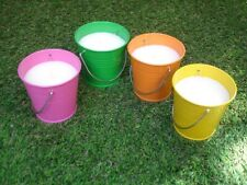 4 Pack Citronella Scented Candles Bucket Outdoor Patio Barbecue Insect Repellent