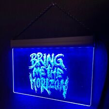Neon Blue Bring Me The Horizon Light Up Sign 12x8 44in Cable