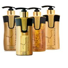 Keratin Cure Best STRONG Hair Treatment Gold & Honey V2 LGEL 10oz 4Pc Kit Frizzy