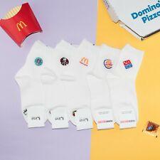 Funny McDonalds KFC Pizza Hut Starbucks Ankle Socks Funky Womens Cute