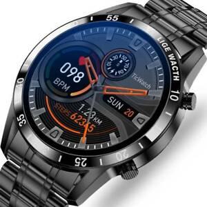 Luxus Herren Smartwatch Armband Herzfrequenz Pulsuhr Blutdruck Fitness Tracker