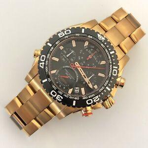 Bulova Mens Wristwatch Gold Tone Stainless Steel Bracelet Strap  #98B213 2041 CP